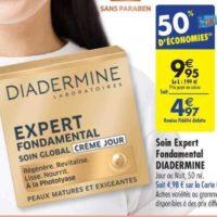 Crème Expert Fondamental Diadermine chez Carrefour (25/06 – 08/07)