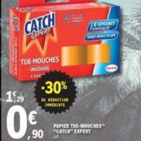 Papier insecticide Catch chez Leclerc Est (25/06 – 06/07)