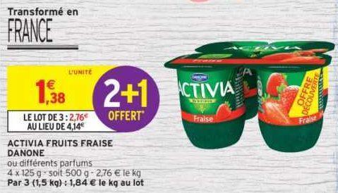 Yaourts aux Fruits Activia chez Intermarché (25/06 – 30/06)
