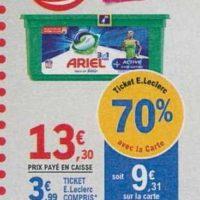 Lessive en Capsules Ariel chez Leclerc (18/06 – 29/06)