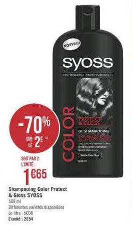 Shampoing Syoss chez Géant Casino (11/06 – 23/06)