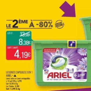 Lessive Ariel Pods 3en1+ chez Match (12/06 – 23/06)