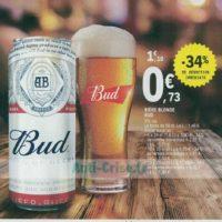 Pack de bière 6x25cl Bud chez Leclerc Nord (24/06 – 29/06)