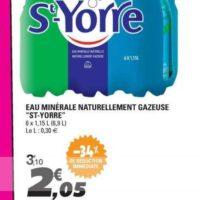 Eau minérale gazeuse St-Yorre chez Leclerc Bretagne (25/06 – 29/06)