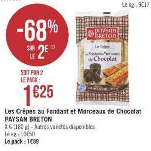Crêpes fourrées Paysan Breton chez Géant Casino (18/06 – 30/06)