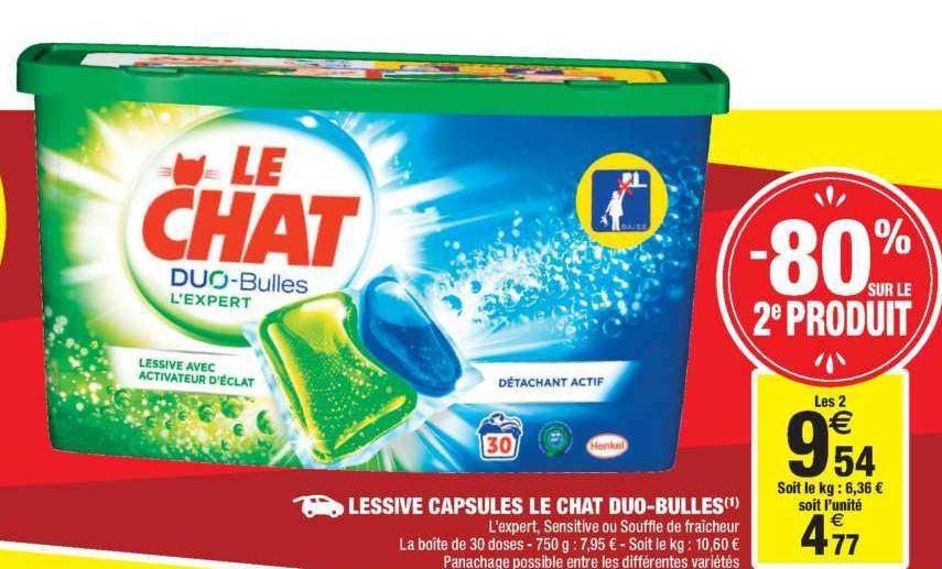 Lessive en Capsules Le Chat chez Carrefour Market (18/06 – 30/06)
