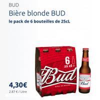 Bière Bud 6x25cl partout