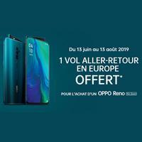Bon Plan OPPO : 1 Vol aller-retour en Europe Offert