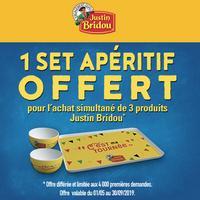 Bon Plan Justin Bridou : 1 Set Apéritif Offert pour 3 produits achetés