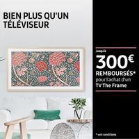 Offre de Remboursement Samsung : Jusqu'à 300€ Remboursés sur  TV The Frame