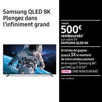 Offre de Remboursement Samsung : 500€ Remboursés sur Téléviseur QLED 8K