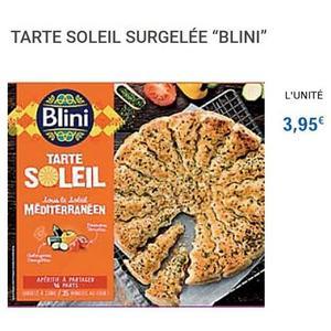 Tarte Soleil Méditeranéenne Blini chez Leclerc (01/06 – 30/06)