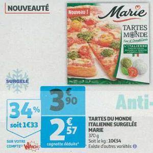 Tarte du Monde Marie chez Auchan (12/06 – 18/06)