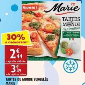Tarte du Monde Marie chez Atac (13/06 – 17/06)