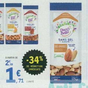 Fruits Secs Sans Sel Ajouté Daco Bello chez Leclerc Centre-Est (12/06 – 22/06)