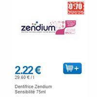 Dentifrice Zendium chez Leclerc (01/06 – 30/06)