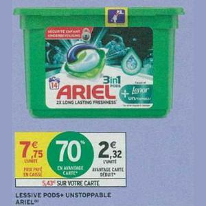 Ariel Pods+ chez Intermarché (25/06 – 30/06)