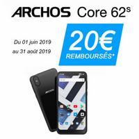 Offre de Remboursement Archos : 20€ Remboursés sur Smartphone Core 62s