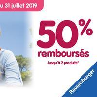 Offre de Remboursement Ravensburger : 50% Remboursés jusqu'à 2 produits