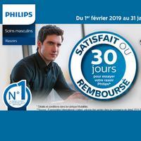 Offre de Remboursement Philips : Rasoir Satisfait ou 100% Remboursé