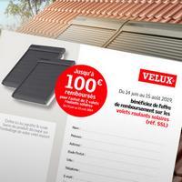 Offre de Remboursement Velux : Jusqu'à 100€ Remboursés sur Volet Roulant Solaire