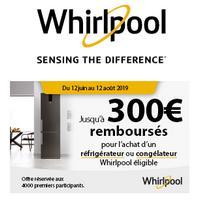 Offre de Remboursement Whirlpool : Jusqu'à 300€ Remboursés sur Réfrigérateur ou Congélateur No Frost
