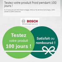 Offre de Remboursement Bosch : Réfrigérateur et/ou Congélateur 100% Satisfait ou 100% Remboursé