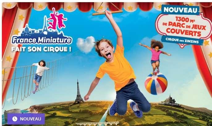 France Miniature : bon plan billets à prix réduits 17€ au lieu de 23