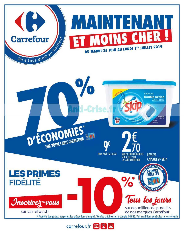Catalogue Carrefour du 25 juin au 01 juillet 2019