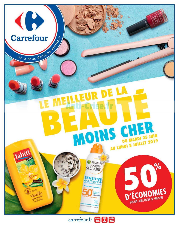 Catalogue Carrefour du 25 juin au 08 juillet 2019 (Beauté)