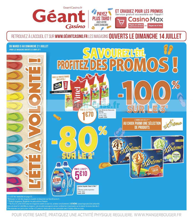 Catalogue Géant Casino du 09 au 21 juillet 2019