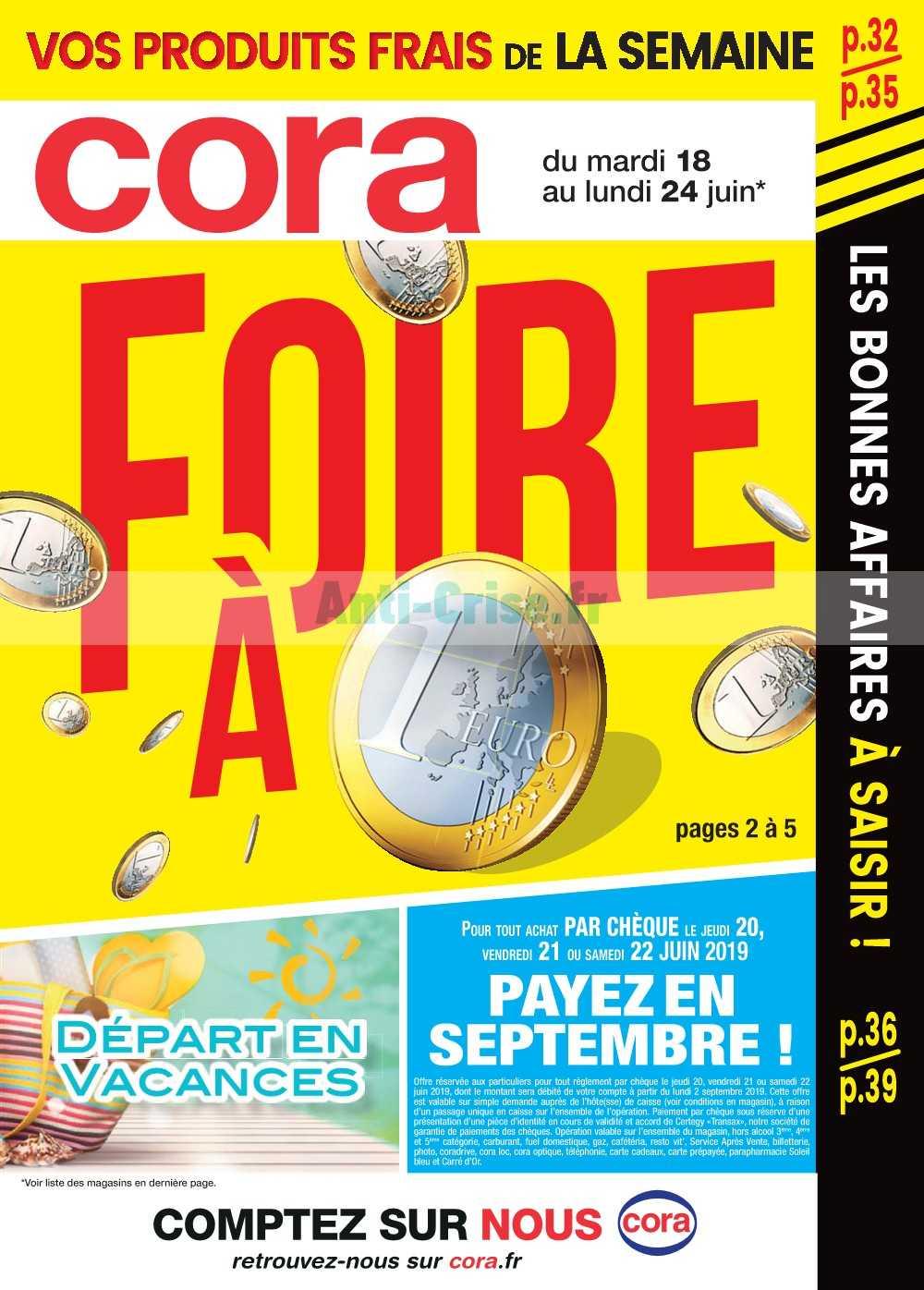 Catalogue Cora du 18 au 24 juin 2019 (Alsace)
