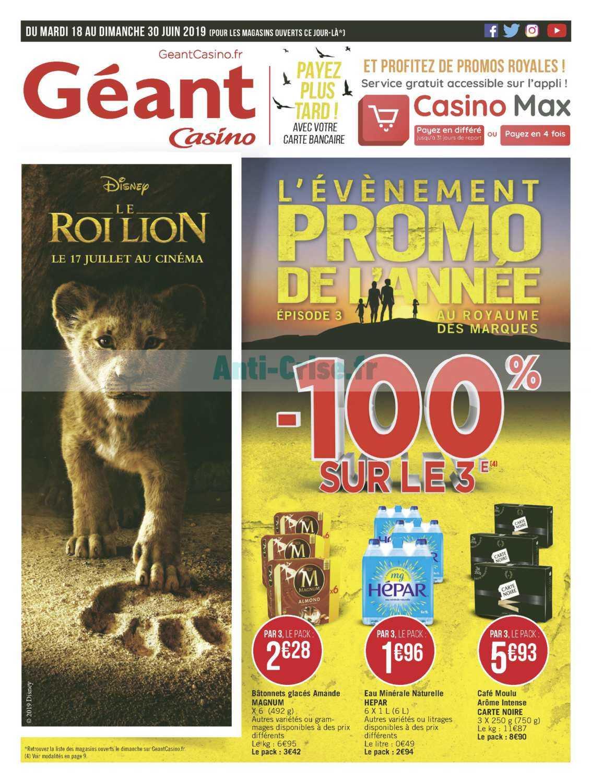 Catalogue Géant Casino du 18 au 30 juin 2019