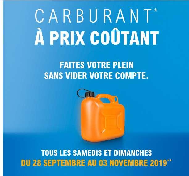 Leclerc : Carburant à Prix Coûtant tous les Samedis et Dimanches (28/09-3/11)