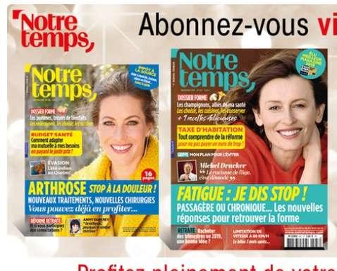 20€ l'abonnement d'un an à la revue Notre Temps