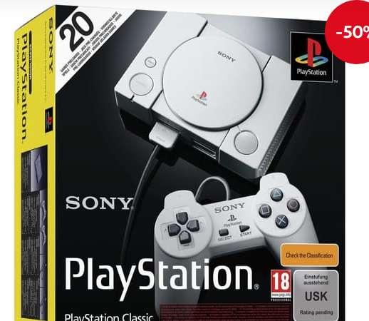 29.99€ la Console rétro PlayStation Classic  avec 20 jeux