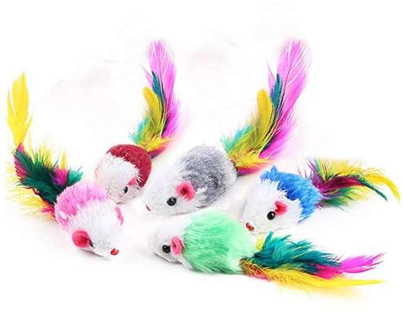 2,88€ le lot de 5 souris jouets pour chats