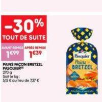 Pains Façon Bretzel Pasquier chez Leader Price (16/07 – 28/07)