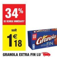 Biscuits Extra Fin Granola chez Carrefour Market (23/07 – 04/08)