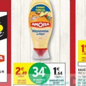Mayonnaise Amora chez Intermarché (16/07 – 28/07)