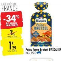 Pains Façon Bretzel Pasquier chez Carrefour (16/07 – 22/07)
