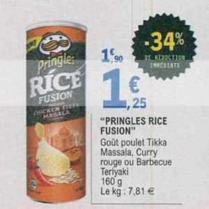 Biscuits Pringles Rice Fusion chez Leclerc (16/07 – 27/07)