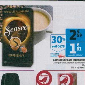 Café en capsules Senseo chez Auchan (10/07 – 16/07)