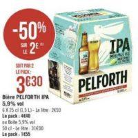 Pack de Bière Pelforth IPA chez Géant Casino (16/07 – 28/07)