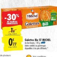 Galettes Bio St Michel chez Carrefour (16/07 – 22/07)