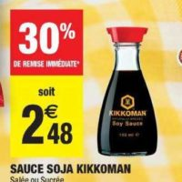 Sauce Soja Kikkoman chez Carrefour Market (23/07 – 04/08)