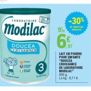 Lait de Croissance Doucéa Modilac chez Leclerc Occitanie (09/07 – 20/07)