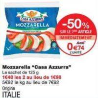 Mozzarella Casa Azzurra chez Monoprix (17/07 – 29/07)