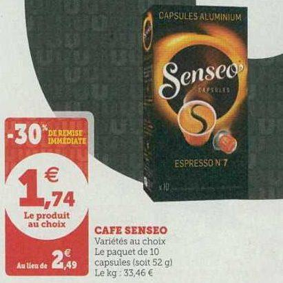 Café en Capsules Senseo chez Magasins U (09/07 – 20/07)