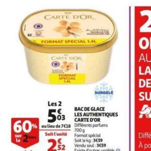 Bac de Glace Carte D'or chez Auchan (24/07 – 30/07)